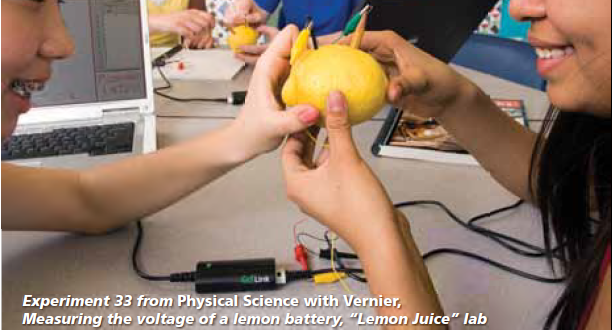 Experiment-Measuring-the-voltage-of-a-lemon-battery-Physical-Science-with-Vernier